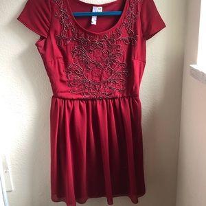 Francesca's Red Short Cocktail Dress